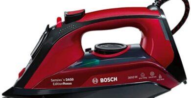 Bosch - Plancha A Vapor, 3000W, 800 W, 1.2, Cerámica, Negro, Rojo, Granate