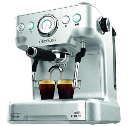 Cecotec - Power Espresso 20 Barista Pro. Thermoblock para Café y Espumar Leche, 20 Bares, Manómetro PressurePro, Vaporizador Orientable, 2900W