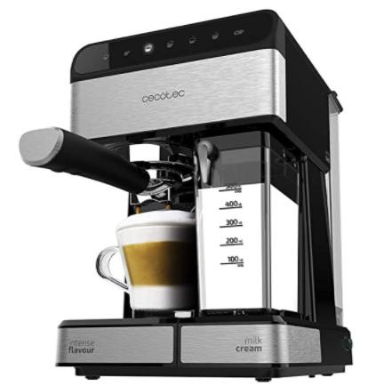 Cecotec - Power Instant-ccino 20 - Cafetera Semiautomatica, Presión 20 Bares, Capacidad de 1,4l, 6 Funciones, Tanque de leche