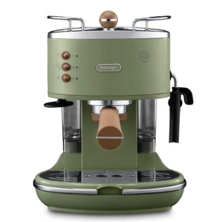 DeLonghi - ECOV 311.GR Cafetera automática independiente, 1100 W, 1,4 L, 15 bares, acero inoxidable, verde