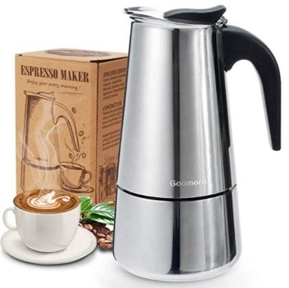 Godmorn - Cafetera italiana, Cafetera espressos en Acero inoxidable 430, de 6 tazas 300ml, Cafetera Moka
