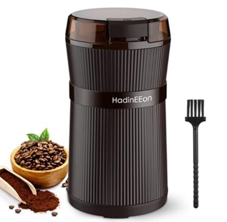 HadinEEon - Molinillo de Especias y Café Eléctrico, 200W Lavable Portátil de Granos de Café y Molinillo de Especias Eléctricos