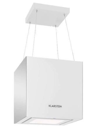 Klarstein Kronleuchter - Campana extractora en isla, Flujo aire hasta 600 m³h, Iluminación LED, Eficiencia energética Clase A