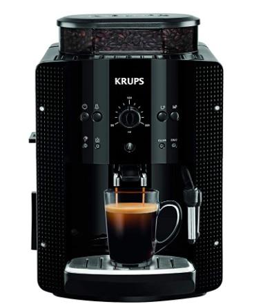 Krups - EA8108 Roma - Cafetera Superautomática, 15 bares, molinillo de café cónico de metal