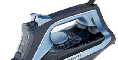 Rowenta - Express Steam plancha de vapor 2500 W, suela Microsteam 300 láser, salida vapor 40 g min, golpe vapor 160 g min, plancha vertical, sistema antical integrado