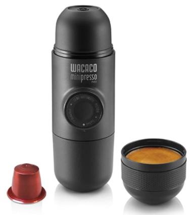 WACACO - Minipresso NS, Cafetera Espresso Portatil, Compatible con Cápsula NS, Operación Manual, Mini Cafetera de Viaje, Máquina Café Portátil para Camping